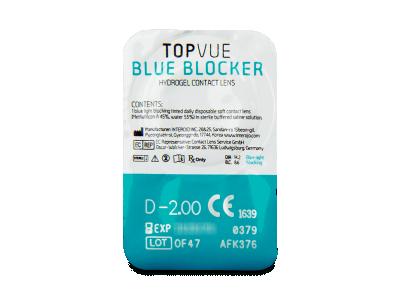 TopVue Blue Blocker (90 kom leća) - Pregled blister pakiranja
