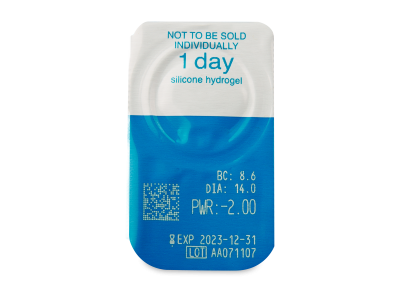 Live Daily Disposable (90 kom leća) - Pregled blister pakiranja