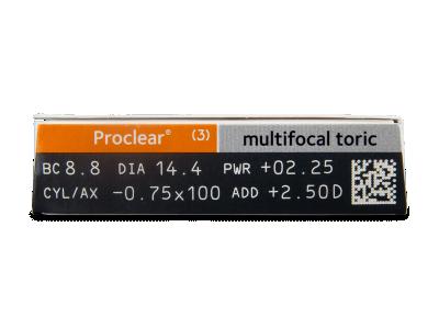 Proclear Multifocal Toric (3kom leća) - Pregled parametara leća