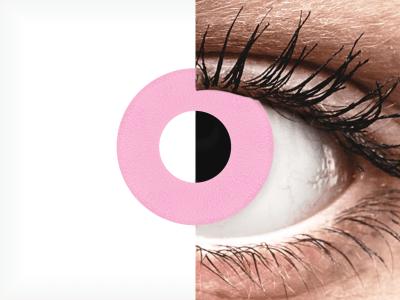 CRAZY LENS - Barbie Pink - jednodnevne leće bez dioptrije (2 kom leća)