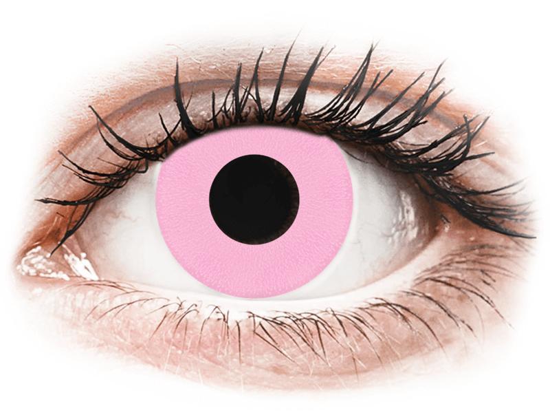CRAZY LENS - Barbie Pink - jednodnevne leće bez dioptrije (2 kom leća) - Kontaktne leće u boji
