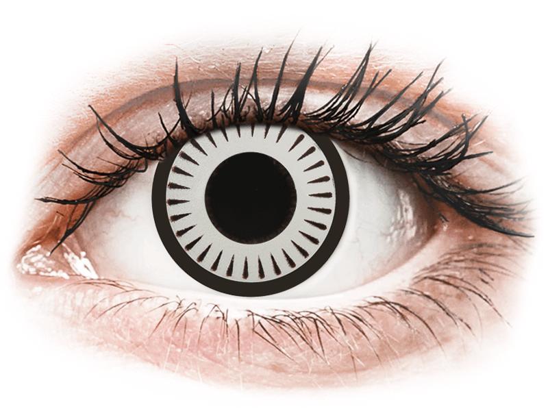 CRAZY LENS - Byakugan - jednodnevne leće bez dioptrije (2 kom leća) - Kontaktne leće u boji