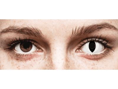 CRAZY LENS - Cat Eye White - jednodnevne leće bez dioptrije (2 kom leća)