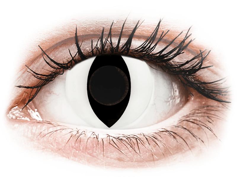CRAZY LENS - Cat Eye White - jednodnevne leće bez dioptrije (2 kom leća) - Kontaktne leće u boji