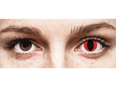 CRAZY LENS - Cat Eye Red - jednodnevne leće bez dioptrije (2 kom leća)