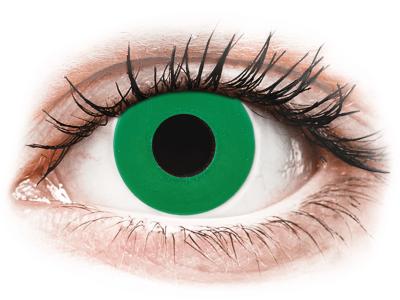 CRAZY LENS - Emerald Green - jednodnevne leće bez dioptrije (2 kom leća)