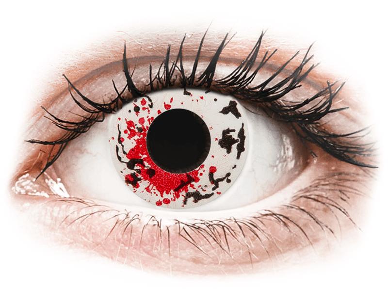 CRAZY LENS - Graffiti - jednodnevne leće dioptrijske (2 kom leća) - Kontaktne leće u boji