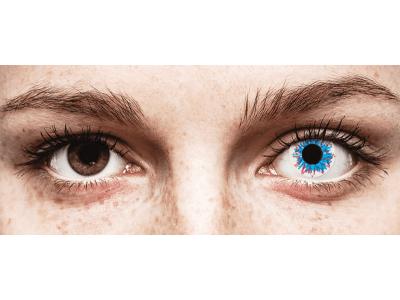 CRAZY LENS - Harlequin - jednodnevne leće dioptrijske (2 kom leća)