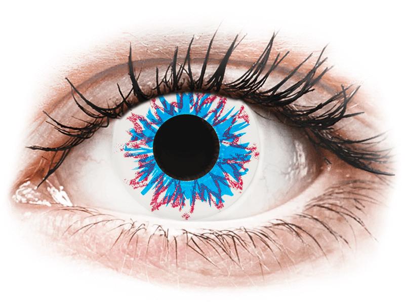 CRAZY LENS - Harlequin - jednodnevne leće dioptrijske (2 kom leća) - Kontaktne leće u boji