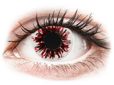 CRAZY LENS - Harlequin Black - jednodnevne leće bez dioptrije (2 kom leća)