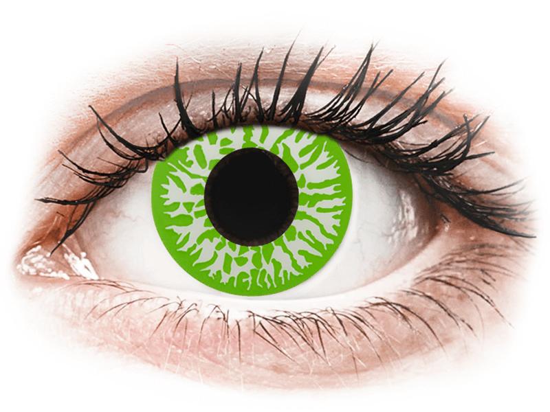 CRAZY LENS - Joker - jednodnevne leće dioptrijske (2 kom leća) - Kontaktne leće u boji