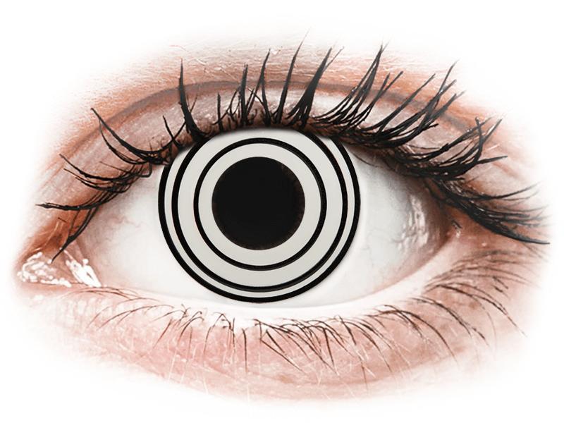 CRAZY LENS - Rinnegan - jednodnevne leće bez dioptrije (2 kom leća) - Kontaktne leće u boji