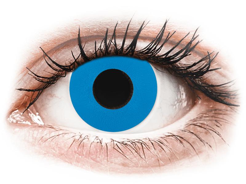 CRAZY LENS - Sky Blue - jednodnevne leće bez dioptrije (2 kom leća) - Kontaktne leće u boji