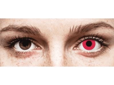 CRAZY LENS - Solid Red - jednodnevne leće dioptrijske (2 kom leća)