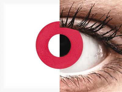 CRAZY LENS - Solid Red - jednodnevne leće bez dioptrije (2 kom leća)