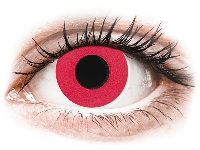 CRAZY LENS - Solid Red - jednodnevne leće bez dioptrije (2 kom leća) - Kontaktne leće u boji