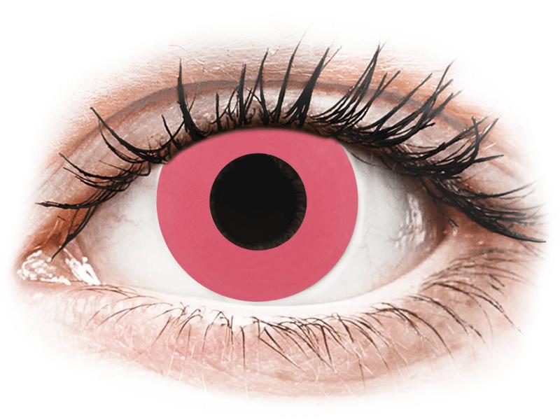 CRAZY LENS - Solid Rose - jednodnevne leće dioptrijske (2 kom leća) - Kontaktne leće u boji
