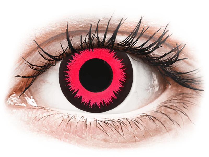 CRAZY LENS - Vampire Queen - jednodnevne leće dioptrijske (2 kom leća) - Kontaktne leće u boji