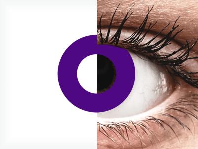 CRAZY LENS - Solid Violet - jednodnevne leće dioptrijske (2 kom leća)