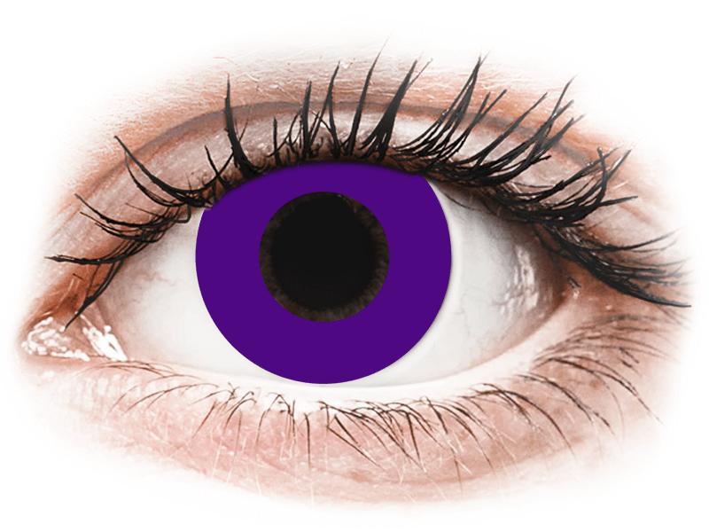 CRAZY LENS - Solid Violet - jednodnevne leće dioptrijske (2 kom leća) - Kontaktne leće u boji
