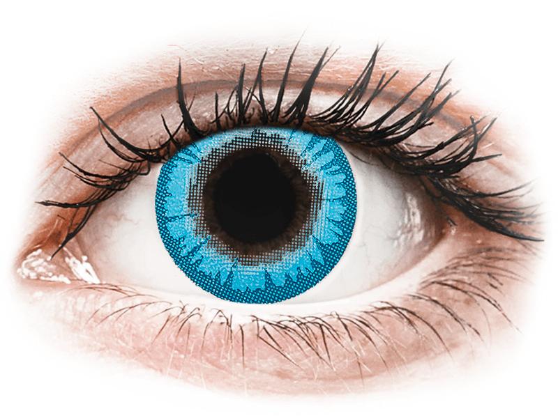 CRAZY LENS - White Walker - jednodnevne leće dioptrijske (2 kom leća) - Kontaktne leće u boji