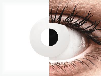 CRAZY LENS - WhiteOut - jednodnevne leće bez dioptrije (2 kom leća)