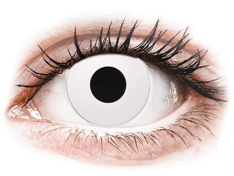 CRAZY LENS - WhiteOut - jednodnevne leće bez dioptrije (2 kom leća) - Kontaktne leće u boji