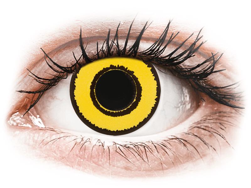 CRAZY LENS - Yellow Twilight - jednodnevne leće dioptrijske (2 kom leća) - Kontaktne leće u boji