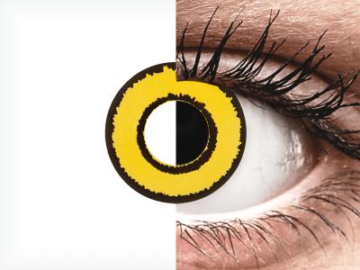CRAZY LENS - Yellow Twilight - jednodnevne leće bez dioptrije (2 kom leća)