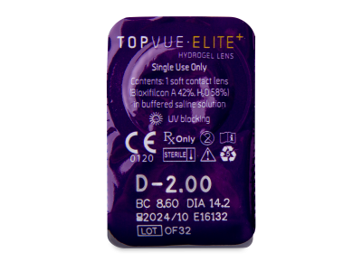 TopVue Elite+ (90 kom leća) - Pregled blister pakiranja