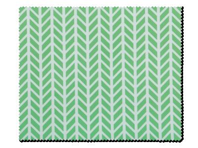Krpica za čišćenje naočala - zeleno-bijela