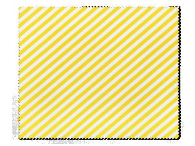 Krpica za čišćenje naočala - žute i bijele crte