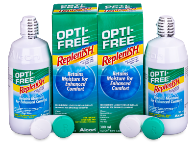 Otopina OPTI-FREE RepleniSH 2 x 300 ml  - Economy duo pack- solution