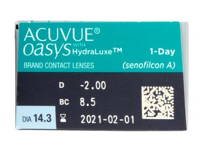 Acuvue Oasys 1-Day (30 kom leća) - Pregled parametara leća