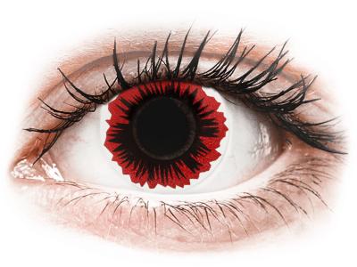 ColourVUE Crazy Blaze - bez dioptrije (2 kom leća) - Kontaktne leće u boji