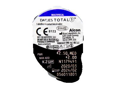 Dailies TOTAL1 Multifocal (30 kom leća) - Pregled blister pakiranja