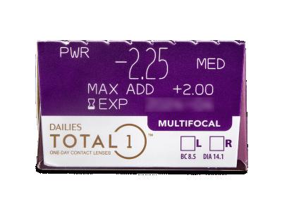 Dailies TOTAL1 Multifocal (30 kom leća) - Pregled parametara leća