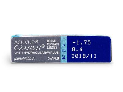 Acuvue Oasys (6komleća) - Pregled parametara leća