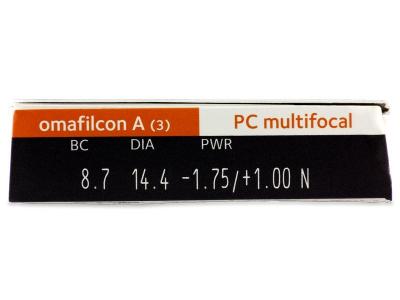 Proclear Multifocal (3komleća) - Pregled parametara leća