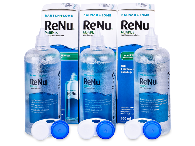 Otopina ReNu MultiPlus 3x360ml  - Ekonomično troduplo pakiranje otopine