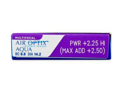 Air Optix Aqua Multifocal (3 kom leća) - Pregled parametara leća