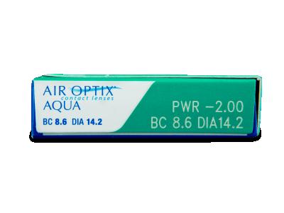 Air Optix Aqua (6komleća) - Pregled parametara leća