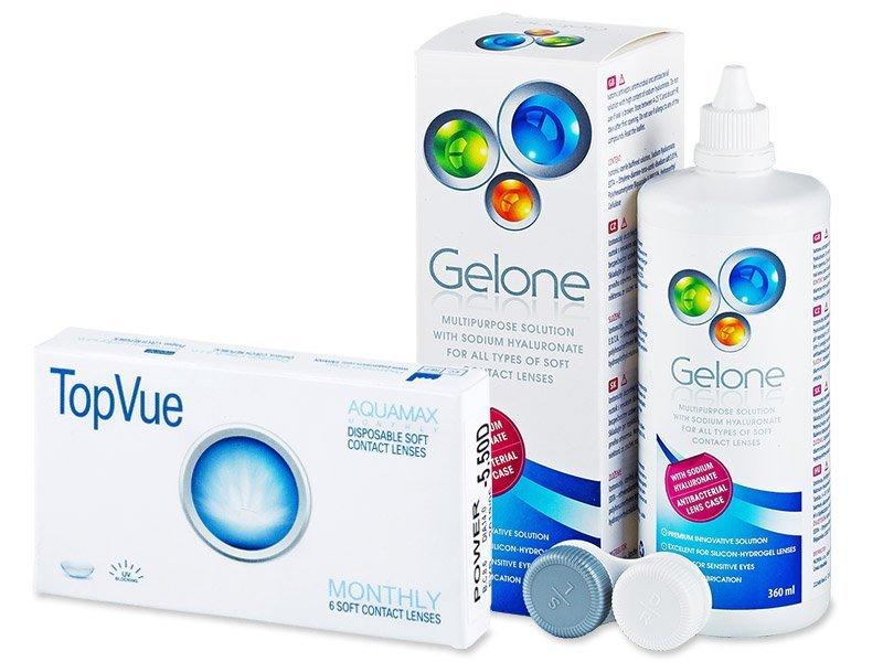 TopVue Monthly (6 kom leća) + Gelone 360 ml - Ponuda paketa