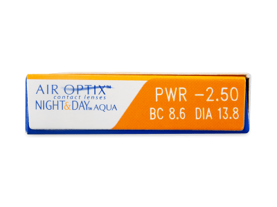 Air Optix Night and Day Aqua (6komleća) - Pregled parametara leća